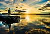 544 - Dunoon  Sunrise over Jetties