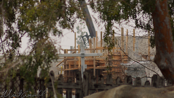 Disneyland Resort, Disneyland, Frontierland, Critter Country, Star Wars Land, Star Wars, Rivers Of America, Rivers, River, America, Construction