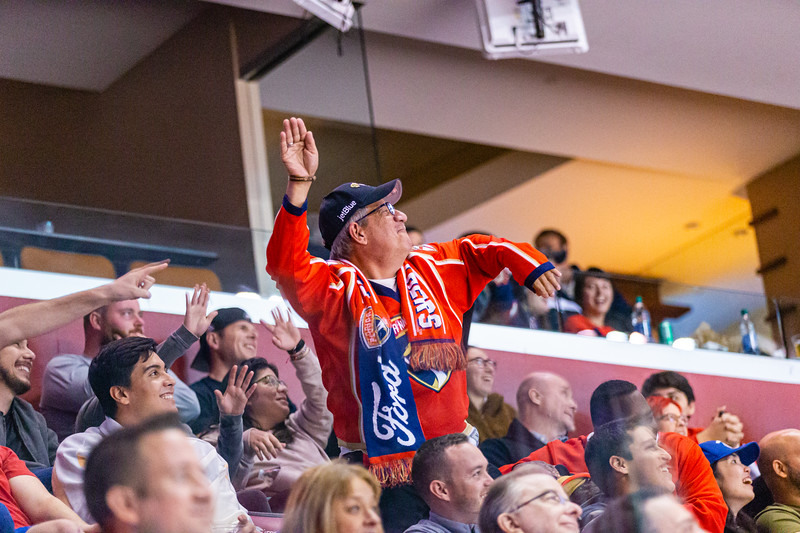 Panthers fans cheer their team on against the Vancouver Canucks at the BB&T Center on Thursday, January 9, 2020. The Panthers would go on to win 5-2. [JOSEPH FORZANO/palmbeachpost.com]