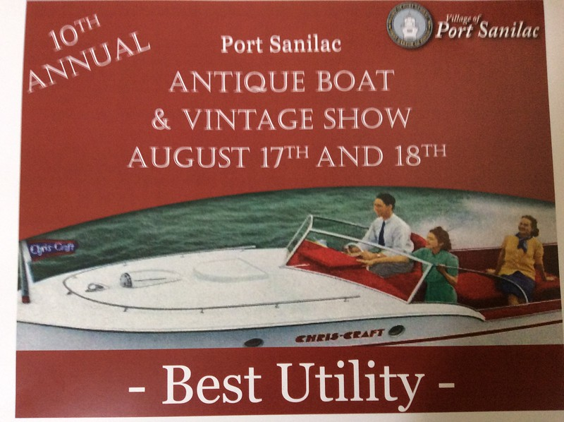 Another award for Tiger Lily 1957 21 Ft Continental. Port Sanilac August 2018.