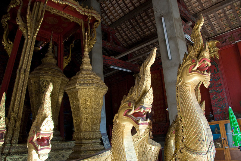 Dragons on royal boat in Luang Prang, Laos