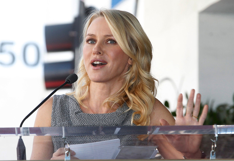 . Australian actress Naomi Watts speaks about her friend, actor Simon Baker  during ceremonies unveiling his star on the Hollywood Walk of Fame in Hollywood February 14, 2013.  REUTERS/Fred Prouser