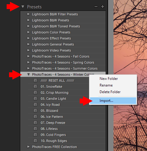How to Add / Import Presets to Lightroom