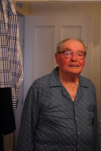 Manuel Silveira Simas (Ribeiras, Pico), born 1920, pictured in his family's home. August 15, 2012.