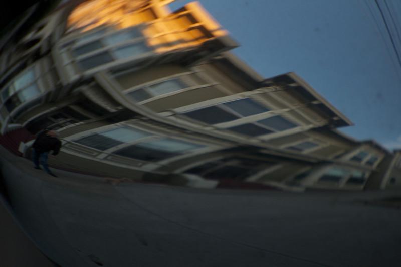Distorted Street Scene