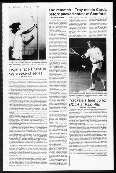 Daily Trojan, Vol. 67, No. 110, April 18, 1975
