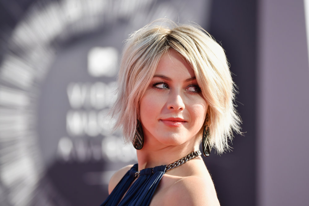 . Actress Julianne Hough attends the 2014 MTV Video Music Awards at The Forum on August 24, 2014 in Inglewood, California.  (Photo by Frazer Harrison/Getty Images)