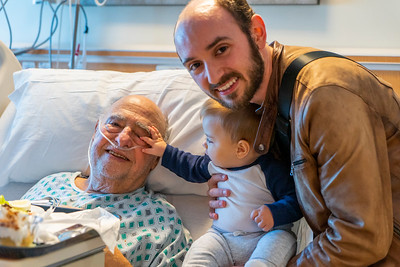 Declan Visits Pro-Papou in the Hospital