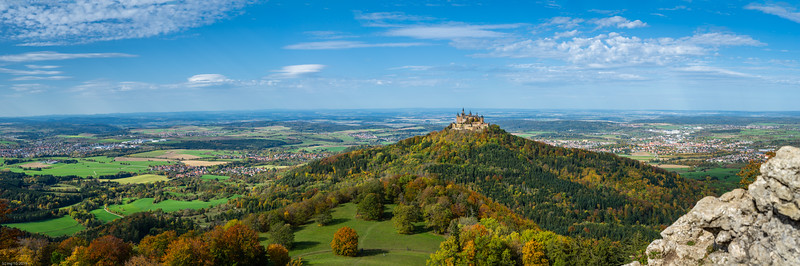 Burg Hohenzollern Panorama vom Zeller Horn / View to Hohenzollern Castle