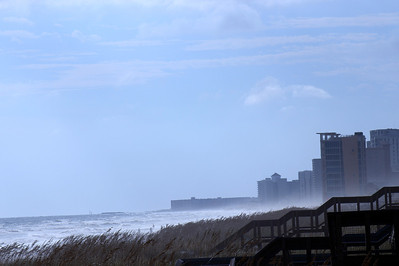 Hurricane Karen on the Gulf Coast Shore