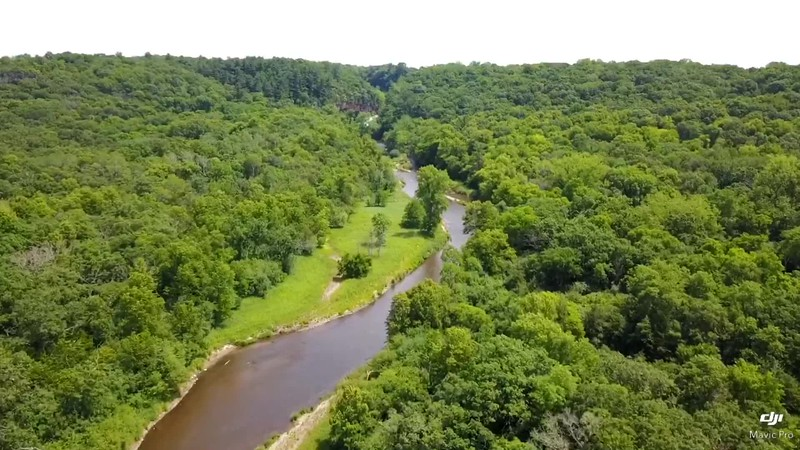 Willow River flying up stream. play clip