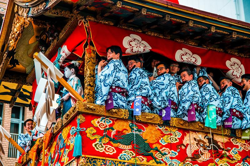 Gion Matsuri floats. Editorial credit: Alexander Vow / Shutterstock.com