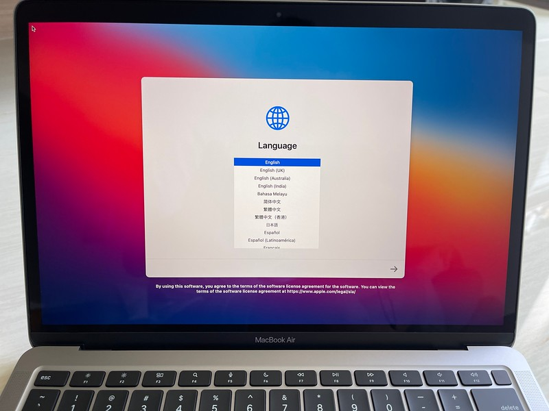 Setting up the Apple M1 MacBook Air
