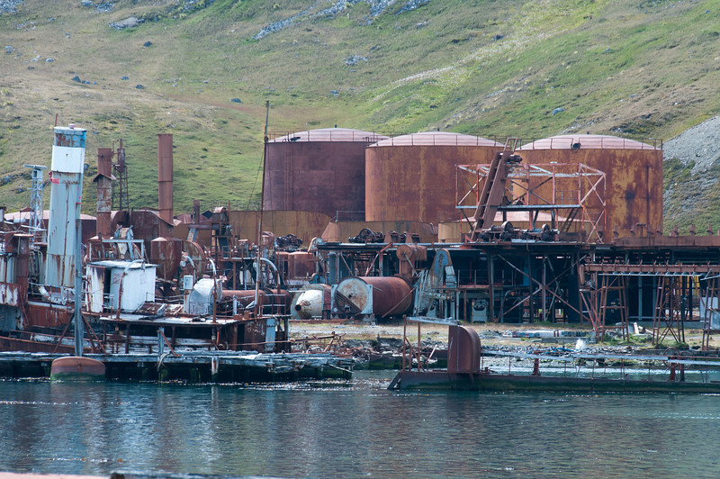 Former whaling station in Grytviken, South Georgia Island