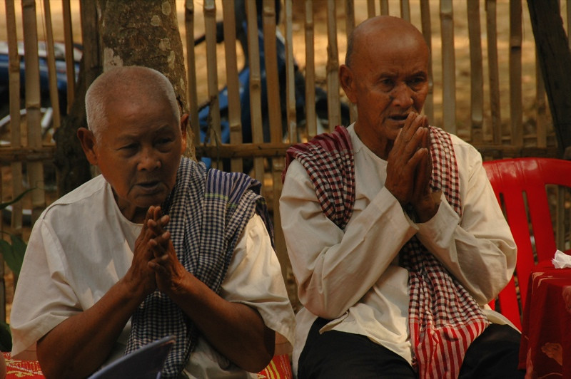 Old Men Praying - Battambang, Cambodia
