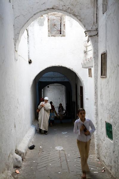 Typical medina street, Tetouan, Morocco