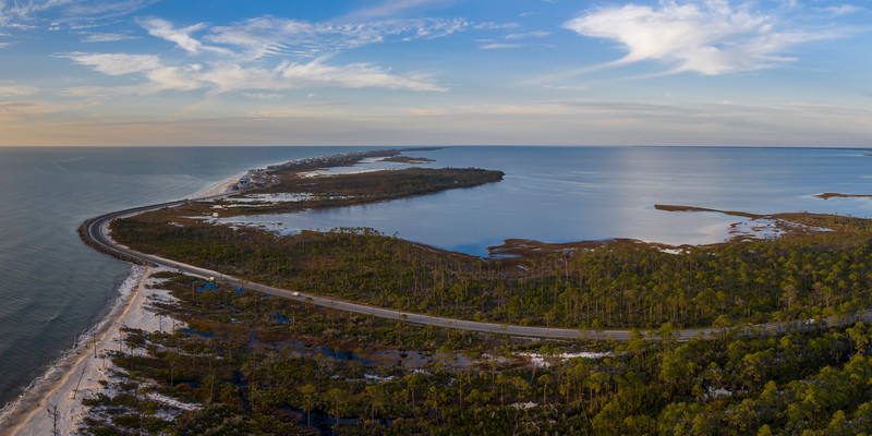 Cape San Blas Aerial 2x1
