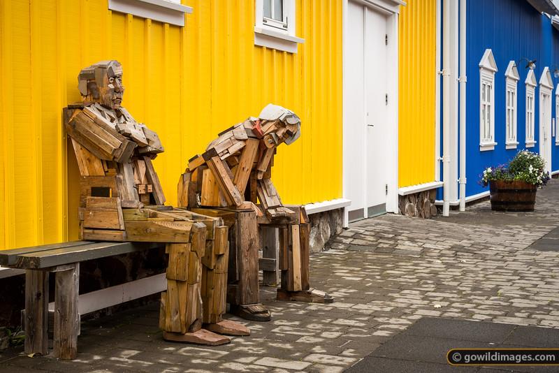 Siglufjörður harbourside art