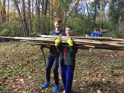 Eighth Graders Lend a Hand at Woodend Nature Sanctuary