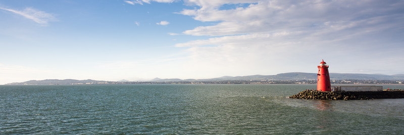 Poolbeg breakwater and Dublin Bay