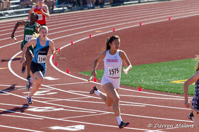 2017 STATE Track Meet at Tahoma High feat. Catrina Wright Girls 4x200