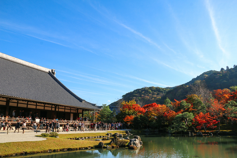 Tenryuji temple and Sogenchi pond garden. Editorial credit: Neptunestock / Shutterstock.com