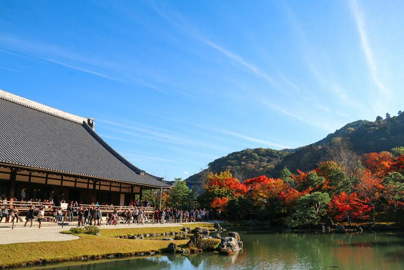 Tenryuji temple and Sogenchi pond garden. Editorial credit: Neptunestock / Shutterstock.com