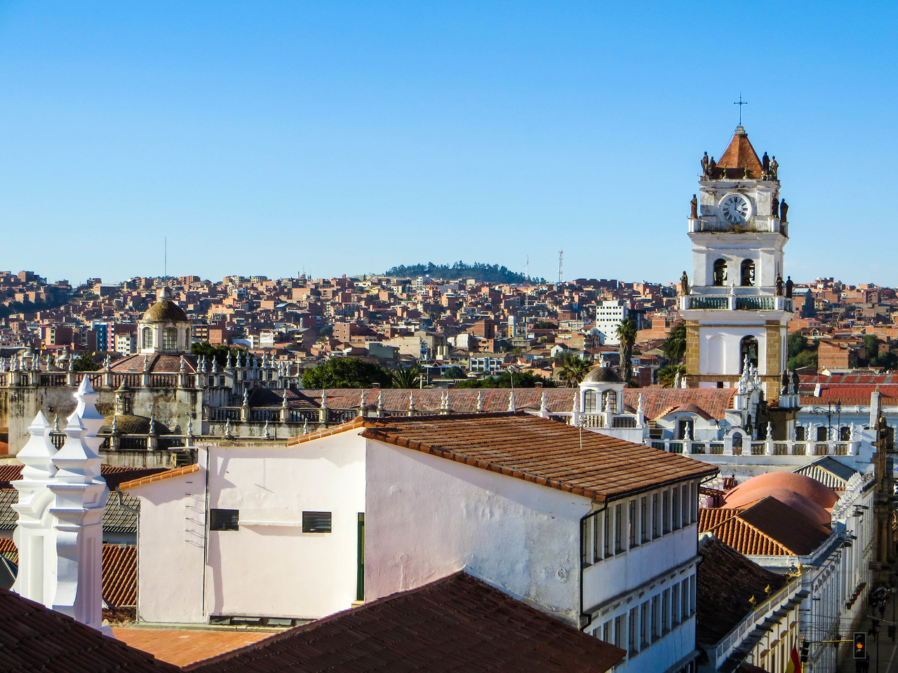 The Rooftops of Sucre Bolivia