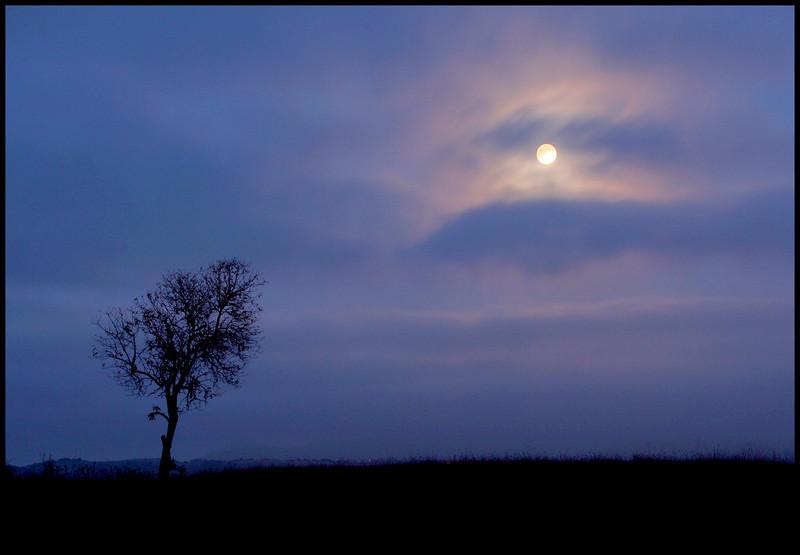 Full moon from Fairmont Ridge.