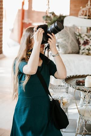 Rachel shooting in Emma dress