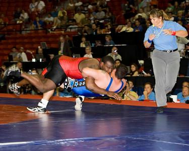 Mens Greco-Roman 120 Kg Olympic Representative Champion - Dremiel Byers (US Army) def. Timothy Taylor (US Army)