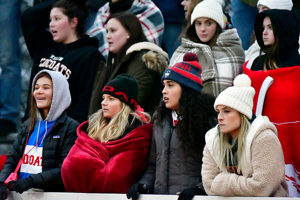 12/8/2018 Mike Orazzi | Staff Fans during Saturday's Class M Football State Football Championship between Berlin and St. Joesph at Shelton High School. St. Joseph won St. Joseph 70 to 18.
