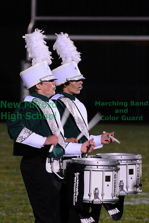 New Milford High School Marching Band at Football Game, October 29, 2010