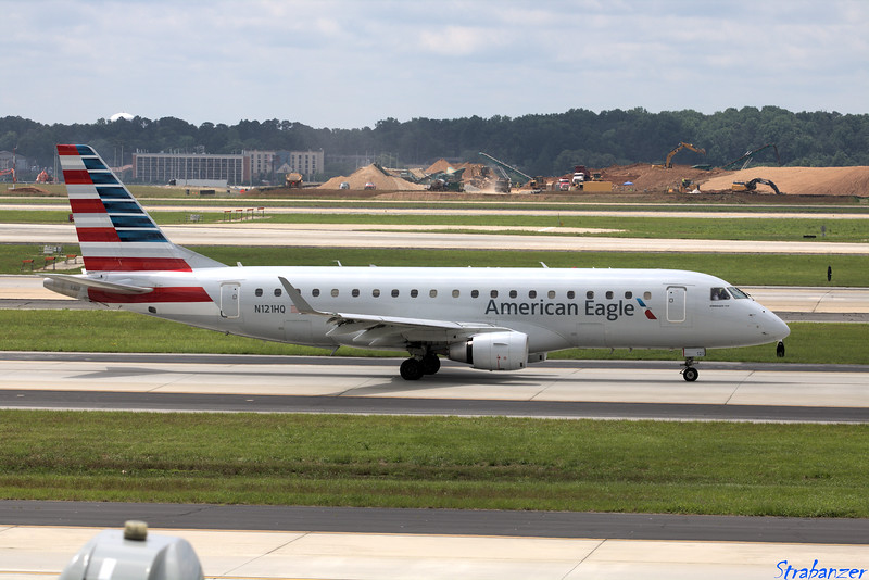 Embraer ERJ-175LR  s/n 17000194 N121HQ Republic Airline/American Eagle Operating AA4476 to KDCA (Washington National) Hartsfield-Jackson Atlanta, GA,    05/26/2018 This work is licensed under a Creative Commons Attribution- NonCommercial 4.0 International License
