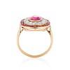 3.27ctw Burma No-heat Ruby Cluster Ring, GIA cert 4