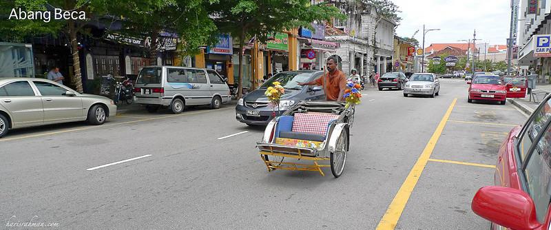 Colourful trishaws in Penang