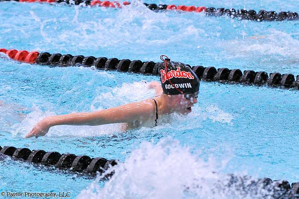 Girls Swimming action