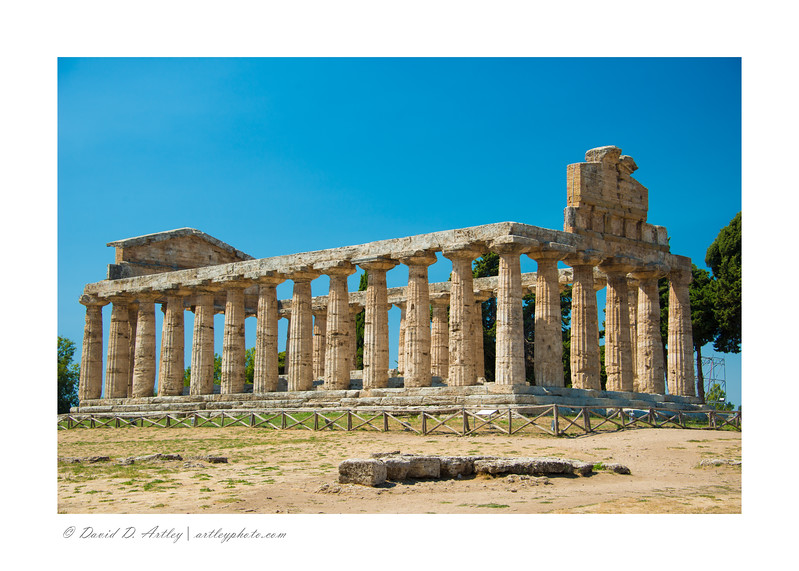 Temple of Athena, Paestum Arhaeological Park, Italy