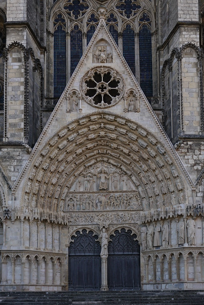 Bourges, Saint Stephen Cathedral West Facade Portal of the Last Judgment
