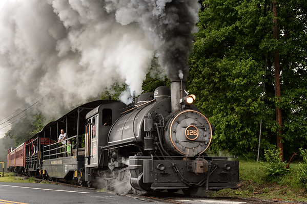 Walkersville Southern Railroad Steam Train Railfan Special