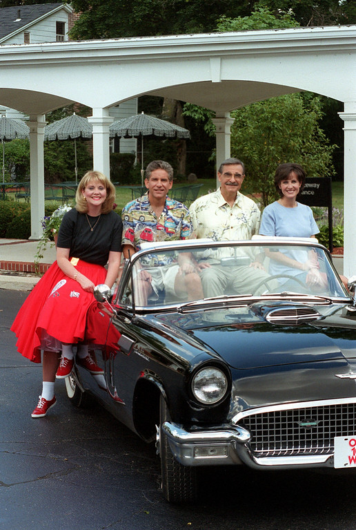 . (f.left) Mary Conway, Guy Gordon, Dick Purtan and Joanne Purtan will be hosting the Woodward Dream Cruise coverage on Channel 7.