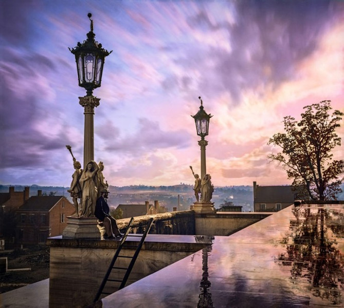View from the Capitol in Nashville, 1864 (Photo credit: Sanna Dullaway)