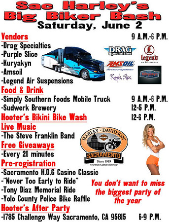 SAC HARLEY BIG BIKER BASH 2 JUNE 12