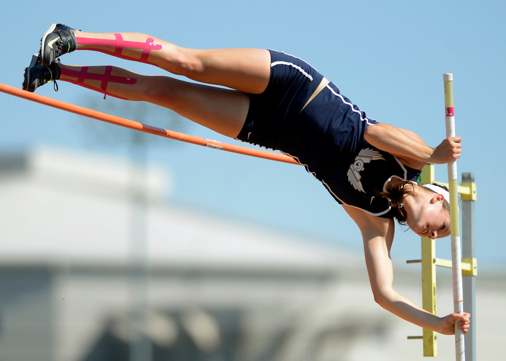 ". Maribeth Joeright/MJoeright@News-Herald.com <p> West Geauga\'s Audrey Rabe had her best jump of 12\'3"" in the Division I girls pole vault during the state track and field championship meet in Columbus,  June 7, 2014."
