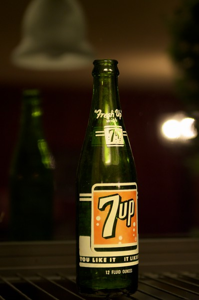 4) Jan 4 - Vintage 7up bottle, found hiking near our house.  Anyone know the year?