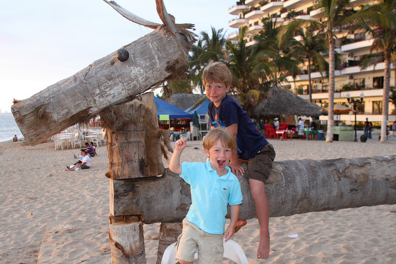 """Hanging out before dinner in the """"Romantic District"""" of Puerta Vallarta."""