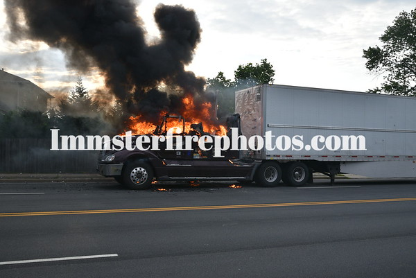 BETHPAGE TRUCK FIRE