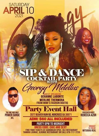 MITSOUKA REAL PRESENTS SIP & DANCE COCKTAIL PARTY WITH GEORGY