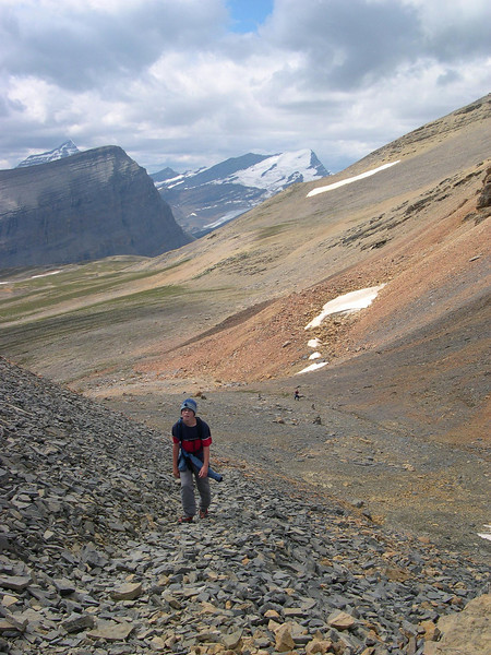 So Much Fun: Tyler's face says it all as Mount Robson monitors his progress in the background.