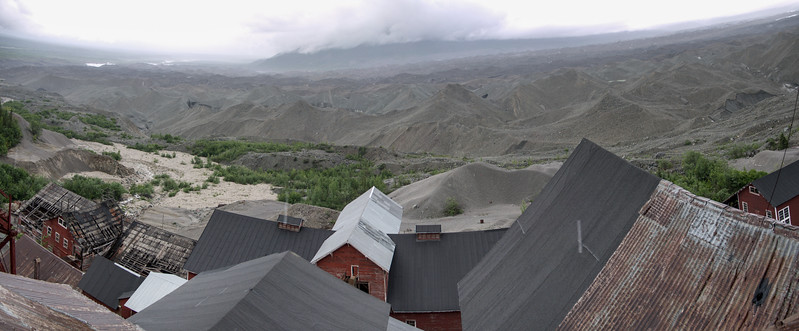 Looking out the main Mill at Kennecott